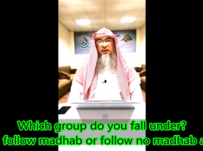 Blind follow a madhab or not follow any madhab?