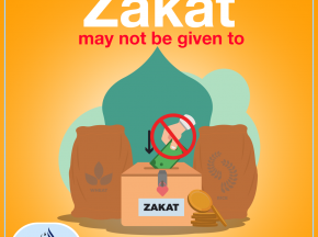 Zakat may not be given to