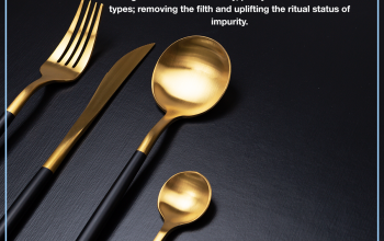 Utensils welded with gold or silver