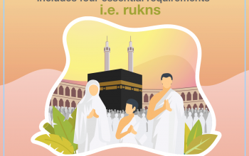 The pilgrimage includes four essential requirements, i.e. rukns