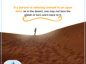 Relieving oneself in an open area