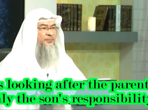 Is looking after the parents only the Son's responsibility?