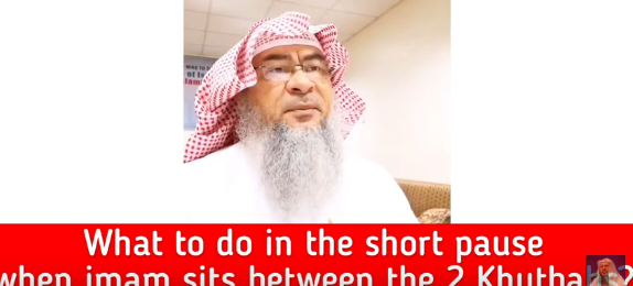 What to do in the short pause when the imam sits in between two khutbahs?