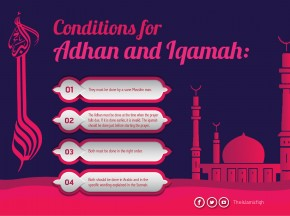 Conditions for Adhan and Iqamah