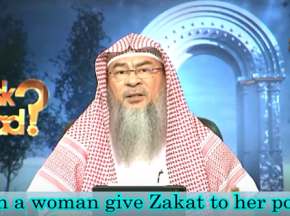 Can a woman give zakat to her husband?