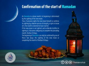 Confirmation of the start of Ramadan