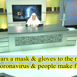 He wears mask & gloves to the masjid due to coronavirus & people make fun of him