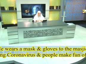 He wears mask & gloves to the masjid due to coronavirus & people make fun of him
