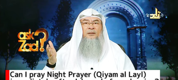 Can I pray night prayers (Qayam Al Layl) immediately after Isha or before sleeping?