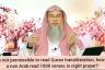 If its not permissible to read Quran transliteration, how should Non Arab recite Quran?