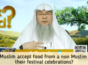 Can we accept food or gifts from non muslims on their Festivals (Christmas, Diwali etc)