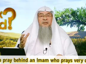 How to pray behind an imam who prays very fast?