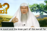 Are the Knees & the Navel part of the Awrah for Men?