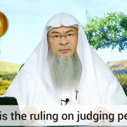 What's the ruling on judging people?