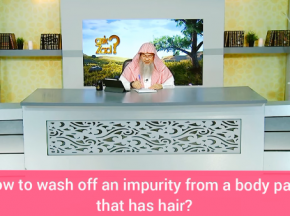 How to wash off impurity from a body part that has hair?
