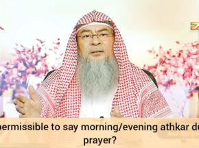 Is it permissible to recite the Morning & Evening adhkar during prayer?