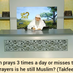 A person who prays 3 times a day or misses 5 daily prayers, is he still a Muslim?