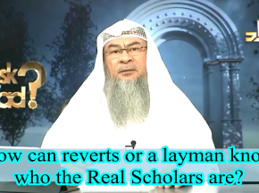 How can reverts or a layman know who the real scholars are?