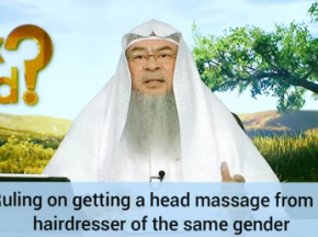 Ruling on getting a head massage from a hairdresser of the same gender