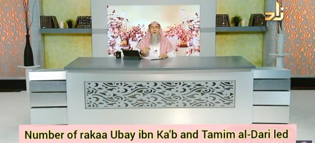 Number of rakahs Ubay Ibn Kab and Tamim al Dari led in taraweeh Prayer