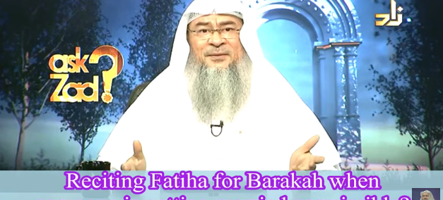 Reciting Fateha for Barakah when someone is getting married