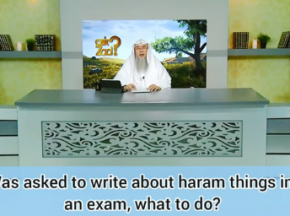 Ruling on writing haram things during exams