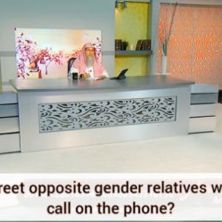 How to greet opposite gender non mahrams on the phone?