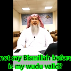 If I did not say Bismillah before making Wudu, does it make the Wudu invalid?