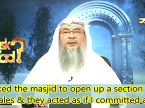 Not allowing Women's section in Masjids