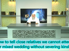 How to tell close relatives we cannot attend their mixed wedding without serving kinship?