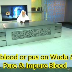 Does Human Blood & Pus on body or clothes invalidate Wudu & Prayer?
