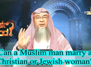Can a Muslim Man marry a Christian or a Jewish Woman?