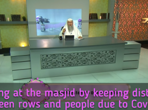 Praying in the masjid by keeping distance between people
