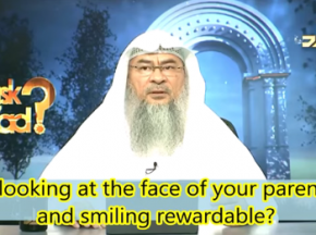 Is looking at the face of your parents & smiling rewardable?