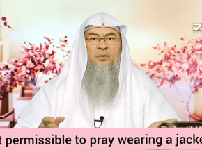 Is it permissible to pray wearing a jacket?