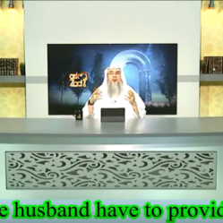 Is the husband obliged to provide for the wife if she's not living with him?