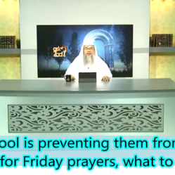 Can't attend Friday due to School, Can we make it at school, how many people required for Jummah?