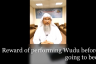 Reward of performing wudu before going to bed