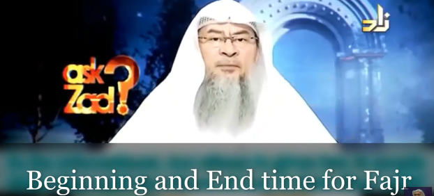 Beginning and end time for Fajr
