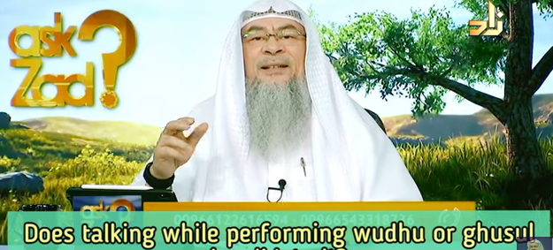 Does talking while performing wudu or ghusl invalidate it?