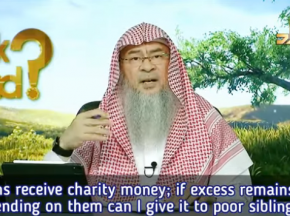 Orphans get charity, if excess remains after spending on them, can I give it to poor