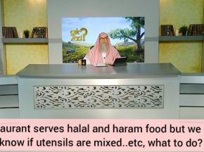 If restaurant serves halal & haram food but we don't know if utensils are mixed etc