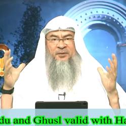 Is my Wudu and Ghusl valid if I apply Hair Gel?