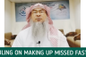 Ruling on making up missed fasts (due to menses)