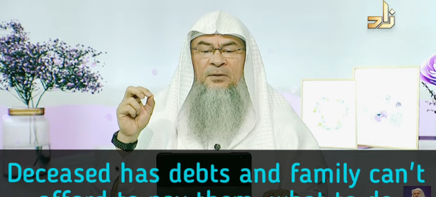 Deceased had debts, his family is not able to pay it off, what should be done?