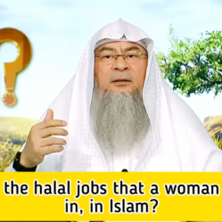 What are the halal jobs a woman can work in, in Islam?