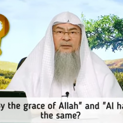 """Is saying """"By the Grace of Allah"""" and """"Alhamdulillah"""" the same?"""