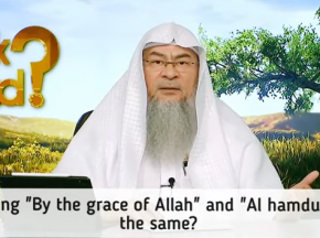 "Is saying ""By the Grace of Allah"" and ""Alhamdulillah"" the same?"