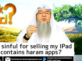 Am I sinful for selling my iPad if it contains haram apps?