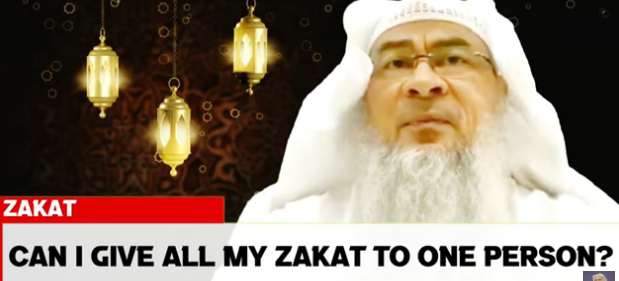 Can I give all my zakat to one person?